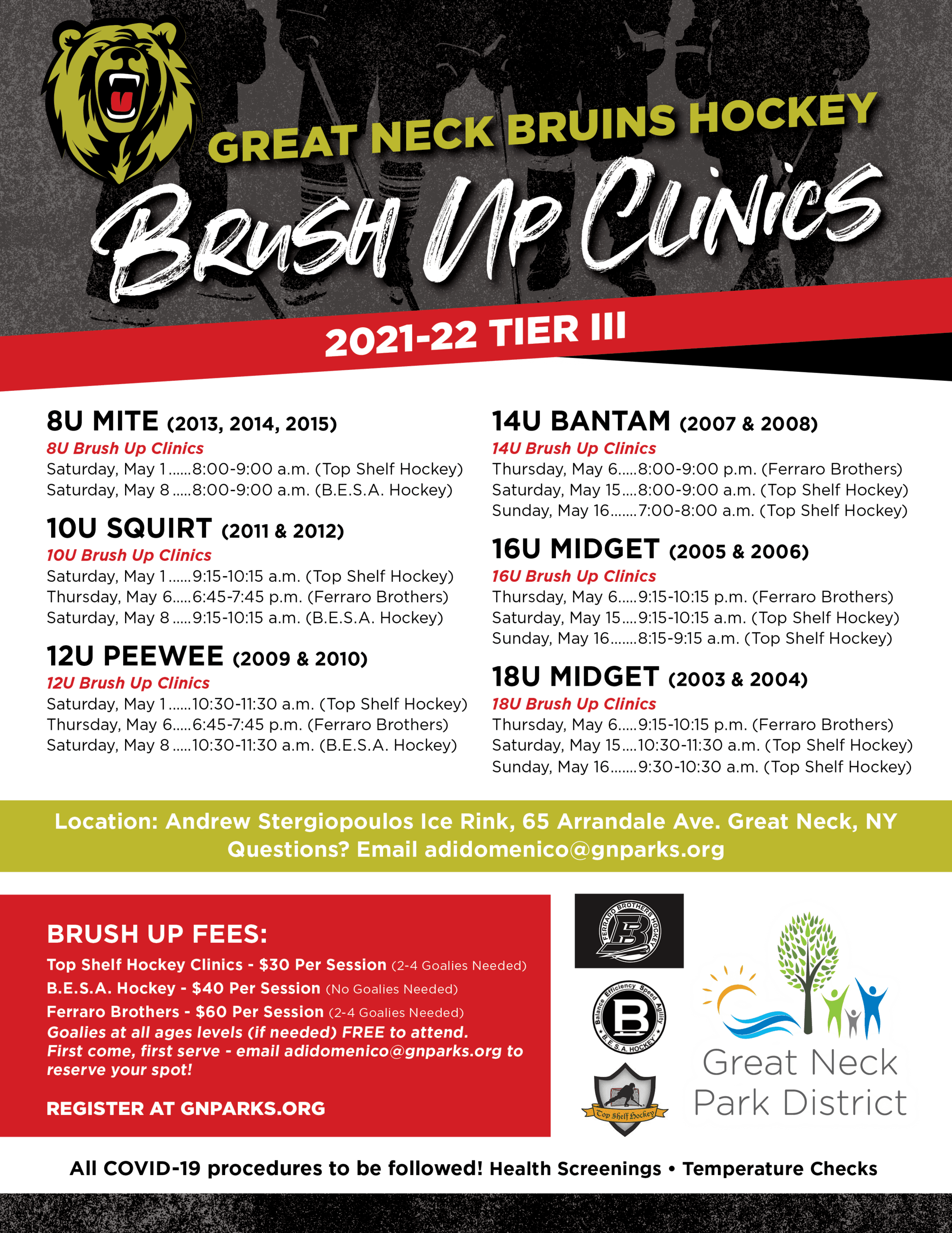 Bruins Brush Up Clinics Flyer 4-2021 (FINAL)